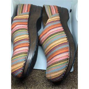 Dansko striped vegan loafers 6